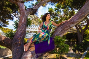 Sepideh hanging out in a tree